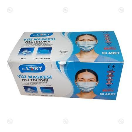 Disposable Luxury Dr Lory Meltblown Maske 50'li Paket